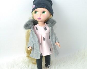 Disney Animators Dolls Clothes, 16 inch doll clothes, coat set, 4 pieces set, pink tunic