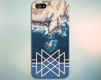 Geometric Coastal Rock Waves x Ariel View Phone Case for iPhone 6 6 Plus iPhone 7  Samsung Galaxy  & s7 and Note  S8 Plus Phone Case