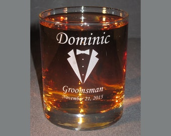 Engraved Whiskey Glass, Personalized Whiskey Glass, Engraved Whiskey Tumbler, Custom Whiskey Glass, Custom Whiskey Glass, Groomsman Gift