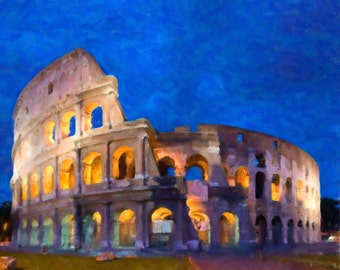 Rome Colosseum Print - Italy Decor - Roman Colosseum - Wall Art Home Decor Fine Art Print #vi244