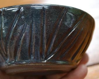 Blue Ceramic Salsa Bowl, Blue pottery bowl, salsa bowl, dip bowl, serving dish