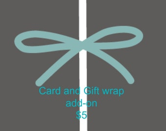 Gift wrap and Card add-on