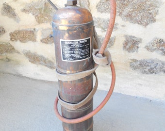 Vintage French Copper & Brass Horticultural / Plant Sprayer