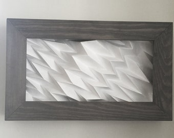 Folded Wall Panel - Grey