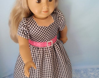 American Girl Doll Dress 18 Inch Doll Clothes Sweetheart Neckline Dress Forties Fifties
