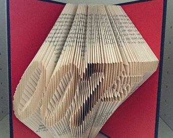 James Bond 007 logo folded book art