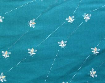Wasps Teal - Wonderlust by Kokka Cotton Fabric Fat Quarter