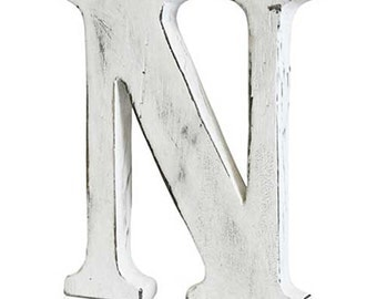 "Hand made wooden letters.... shabby chic, each is different... 6"" - 16cm high approx"