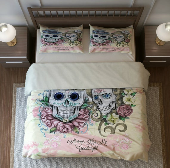 skull bedding sugar skulls duvet comforter cover by
