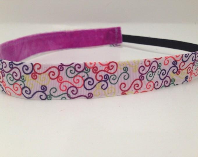 Nonslip Headband Colorful Swirls