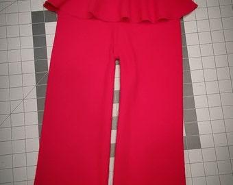 Valentine Red Wool Pants