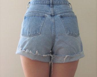 Vintage High Waisted Denim Shorts