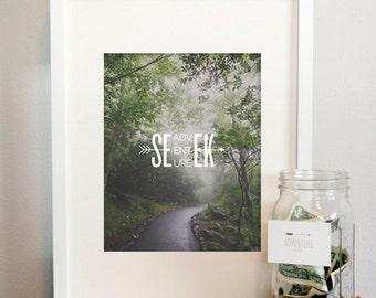 Seek Adventure Print