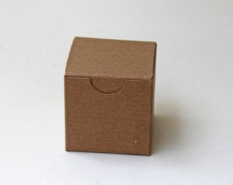 25 3x3x3 box, set of 25 kraft gift box, 3x3x3 favor box, natural kraft box, wedding favor box, bridal/wedding shower box, white 3x3x3 box