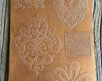 Etched Elements Copper Bails, Etched Copper Sheet, Cutouts, DIY Earrings, Charms, Findings