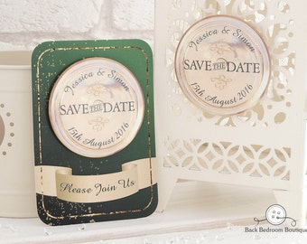 Save The Date Magnets   Champagne design