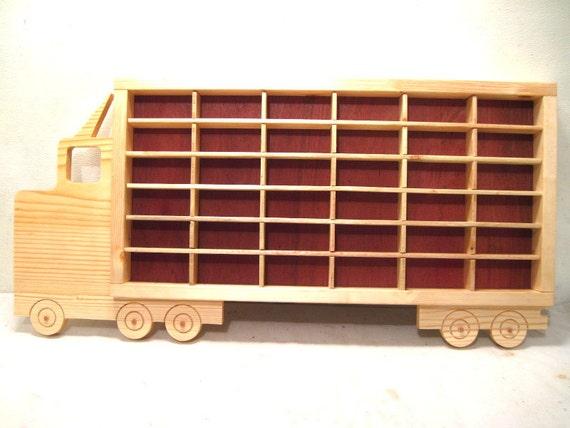 hot wheels boys wood truck display case by