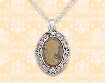 Pink Cameo Necklace - 48853