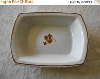 "VINTAGE SUMMER SALE Ironstone ""Tea Leaf"" pattern rectangular vegetable bowl- Burgess Burslem Ironstone Marking- One small corner chip-"