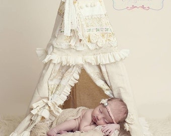 DOLL TEEPEE, doll house, dollhouse, american girl doll, american girl doll accessories, photo prop, newborn session, american girl furniture
