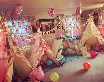 KIDS BIRTHDAY TEEPEE, not for sell. Examples of ideas, play tent, childrens teepee, teepee tent, kids tent, playhouse,