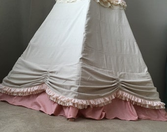 CHILDREN TEEPEE, skirt gathered rosette bottom, teepee, teepee tent, playhouse, kids teepee, play tent