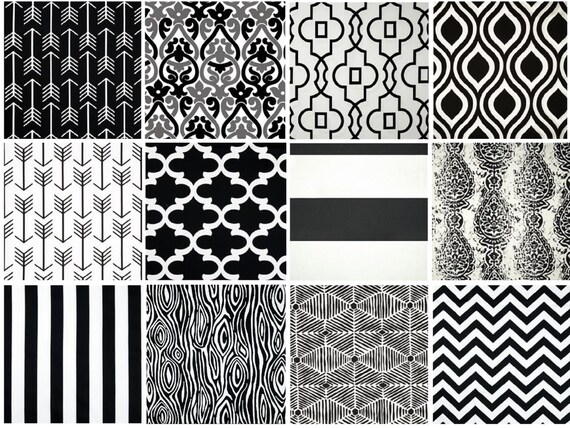 Black and white geometric curtains 2