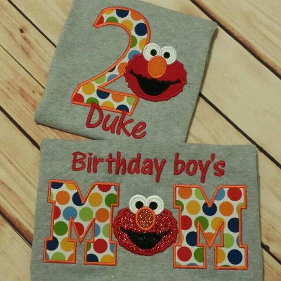 Mommy And Me Elmo 2nd Birthday Tshirt Set Child By Stitchncafe