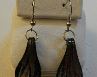 Valentine Sale Murano Style Glass Drop  earrings V30