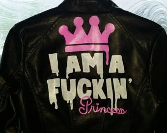 F**kin' Princess Custom Leather Jacket