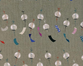 SALE!  Linen fabric by the yard - Cotton Linen - Modern linen fabric - Fat Quarter - Canvas fabric - Cotton and Steel - Chimes Linen