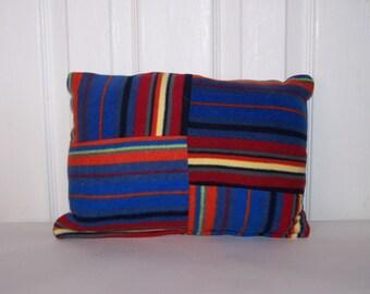 Striped Fleece Accent Pillow