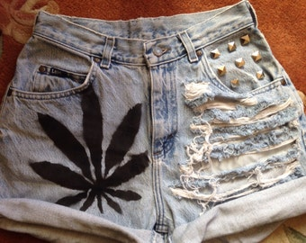 420 high waisted shorts