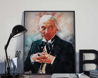 01 Doctor Who - William Hartnell - The First Doctor - INSTANT DIGITAL DOWNLOAD Print poster 8x10 inches