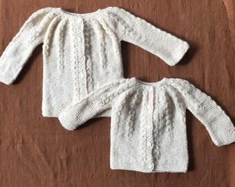 Merino Wool Sweater, Merino wool Cardigan, Baby Cardigan, Hand knitted Cardigan