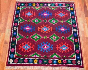 Vintage Romanian rug