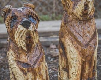 Chainsaw Carved Schnauzer