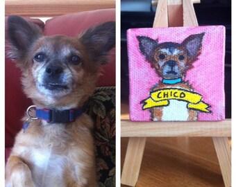 """Custom 1.75""""x1.75"""" Pet Portraits"""