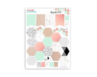 Hexagone note stickers.. Hexanotes (1 sheet)
