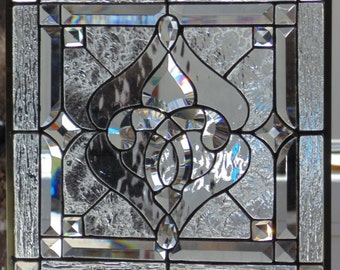Stained Glass Window Hanging 14 7/8 square