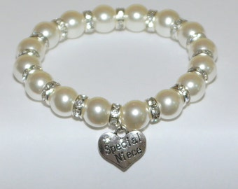 niece bracelet - niece present - niece gift - family jewelry - gift from aunt - niece birthday gift - for niece - family tree