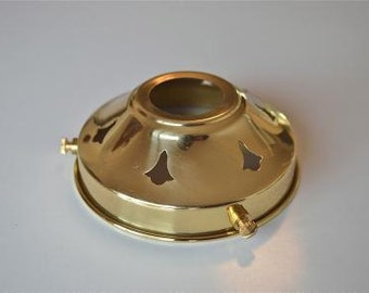A classic antique style brass 3 1/4 inch glass light shade gallery NR3