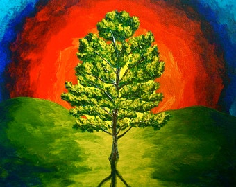 "The Loblolly Pine (ORIGINAL ACRYLIC PAINTING) 8"" x 10"" by Mike Kraus"