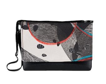 Crossbody Minimalist Bag, Womens Purse, Leather Purse, Clutch Bag, Shoulder Purse, Eco Friendly Purse, Black Leather Purse, Small Bag