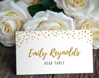 Printable Place Card Template - Placecard Template - DIY Placecard - Name Card Template - Instant Download - Confetti Collection