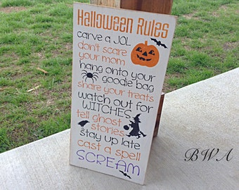 Primitive Halloween decor, wood Halloween decor, wooden Halloween sign, fall decor, rustic halloween sign, halloween signs, rustic Halloween