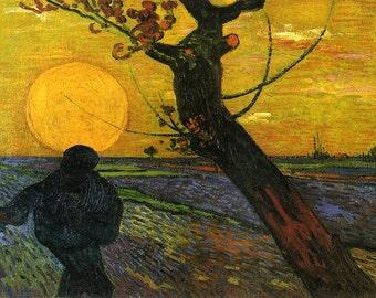 Vincent van Gogh: Sower with Setting Sun. Fine Art Print/Poster (001532)