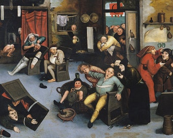 Pieter Bruegel the Elder: Cutting out the Stone of Madness or an Operation on the Head. Fine Art Print/Poster. (003597)