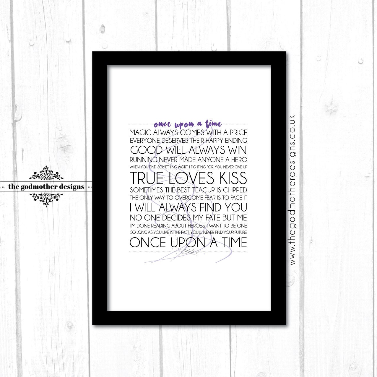 Once Upon A Time Words: Once Upon A Time TV Series Typography Quotes & Words