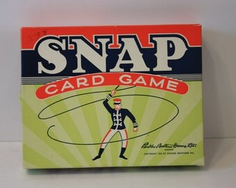 Vintage 1954 Snap Card Game with 40 Cards and Instructions in Original Box - Parker Brothers